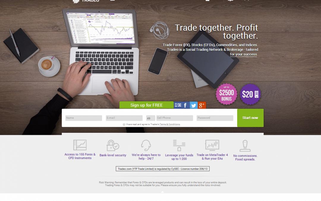 Tradeo mit Relaunch und Abkehr vom Multibroker-Network