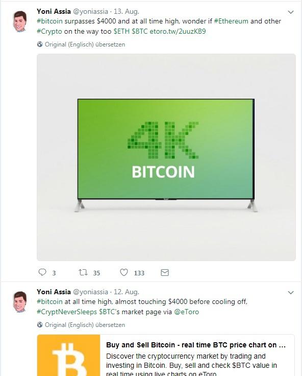 Bitcoin on fire und eToro feiert mit
