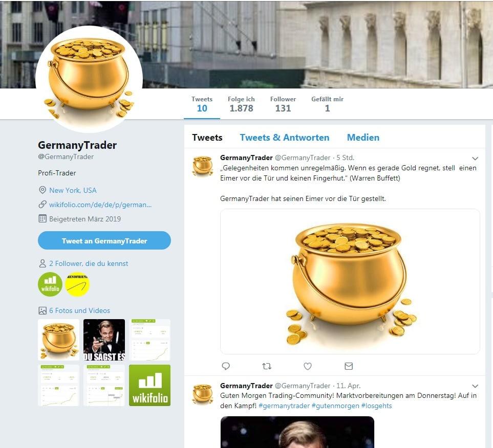Screenshot Twitter Account GermanyTrader