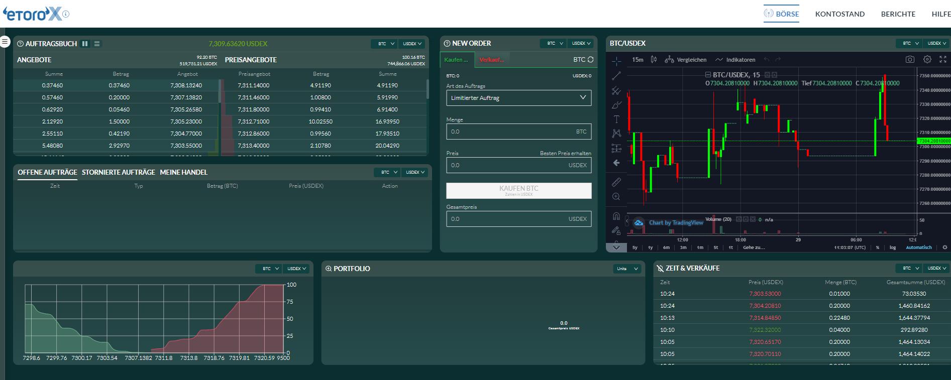 eToroX Screenshot