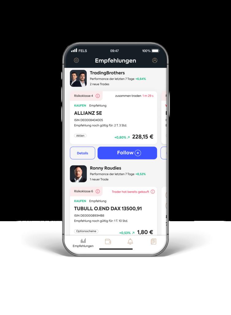 Follow MyTrader App