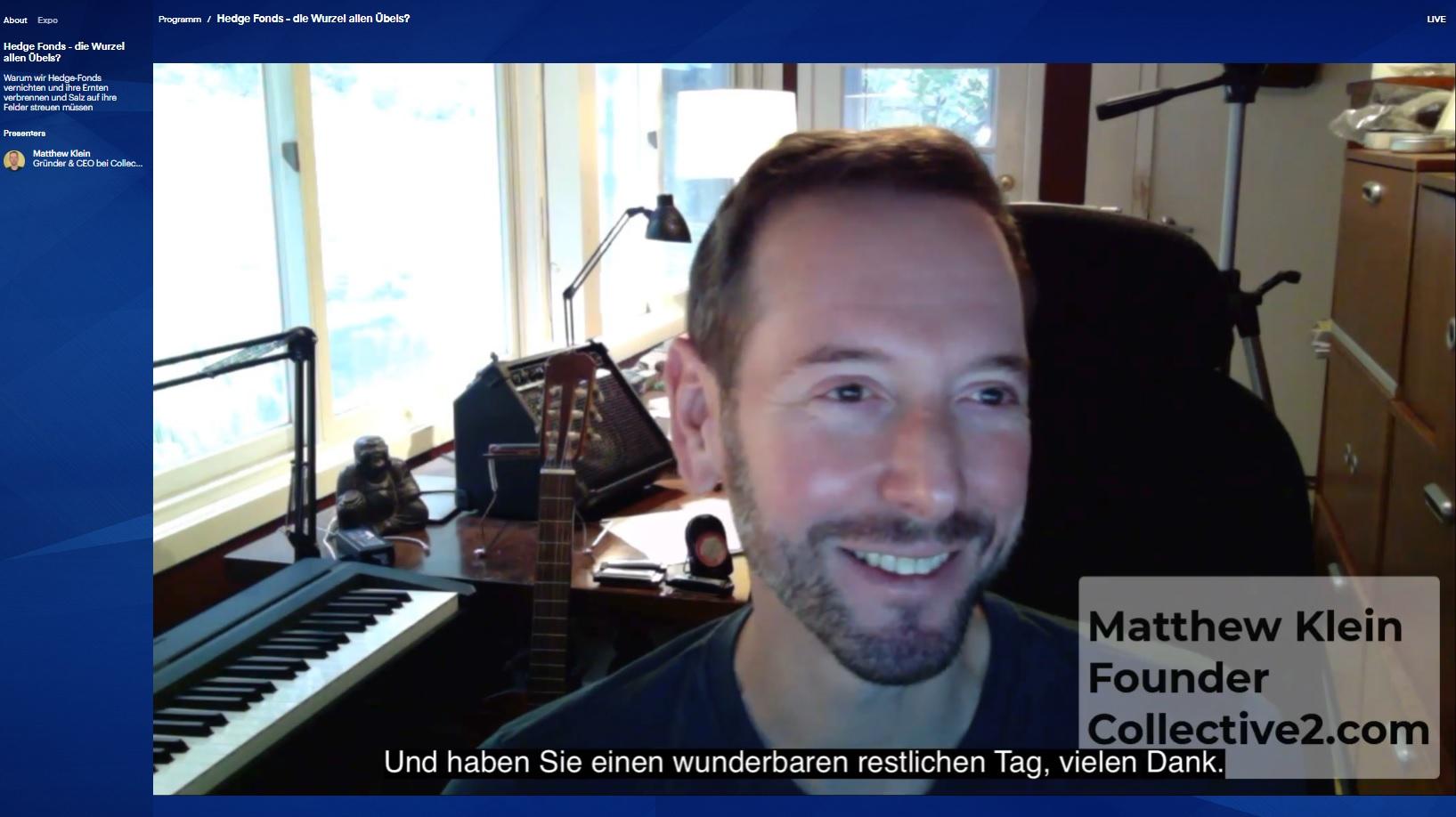 Matthew Klein - WoT online 13.11.2020