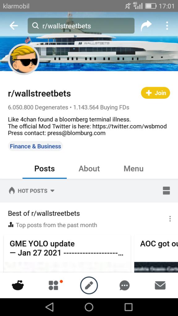 Screenshot wbs Profil